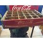 Caja Reja De Refrescos Antigua Coca Cola Roja Madera