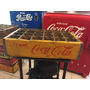 Caja Antigua Reja De Refrescos Coca Cola Madera Amarilla