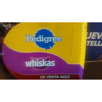 Pedigree Whiskas Letrero Lamina