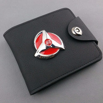 Cartera Anime Naruto Sharingan De Metal Uchiha