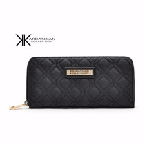 Cartera Kardashian Color Negro & Beige Zipper