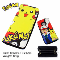 Cartera Con Cierre Anime Pokemon Ash Pikachu Pokebola