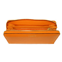 Cartera Coach En Piel Saffiano Color Naranja Original
