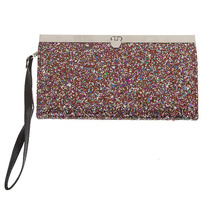 Hot Topic Cartera Multicolor Glitter Accordion Wallet