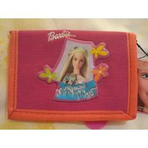 Cartera Billetera Barbie Mattel 100% Original Rosa C/naranja