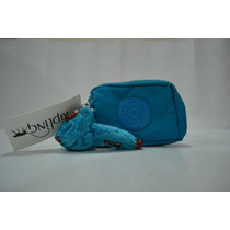Kipling Monedero Cartera Azul - Animal Print