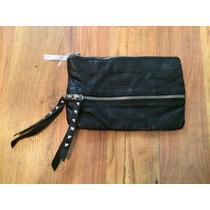 Bolsa Clutch Estuche Mossino Negro Fino 100% Original!!