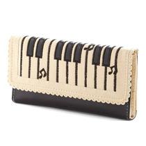 Cartera Dama Piel Mujer Original Piano Teclado Musical Mk