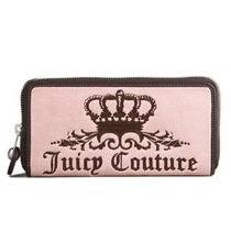 .·:*¨¨*:·.hermosa Cartera Juicy Couture Velour Rosa.·:*¨¨*:·