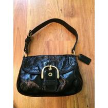 Bolsa Coach Patent Leather Negra Tag Grande 100% Original!!