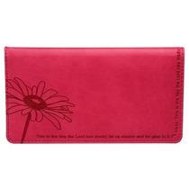 Cartera Psalm : Pink Checkbook Cover Para Mujer