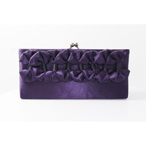 Cartera Noche Purpura Arreglo Flores Can07