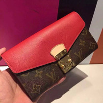 Monedero Cartera Louis Vuitton Rojo