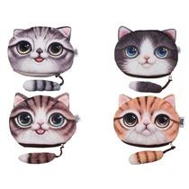Bolsita / Monedero Diseño Cabeza De Gato Porta Celular
