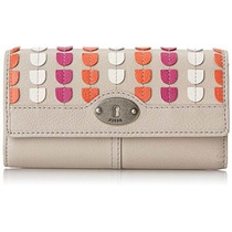 Cartera Fossil Marlow Patchwork Flap Clutch Camel