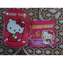 Bolsita Monedero Metalica D Hello Kitty 100% Original Nva