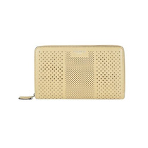 Billetera Coach Bleecker Striped Perforated Leather Continen