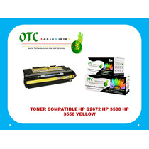 Toner Compatible Hp Q2672 Hp 3500 Hp 3550 Yellow