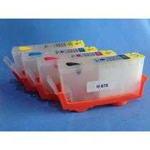 Cartucho Recargable Compatible Hp670 Hp3525 Hp4615 Hp4625