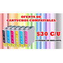 Cartuchos Para Impresoras Compatibles Hp, Epson, Canon, Bara