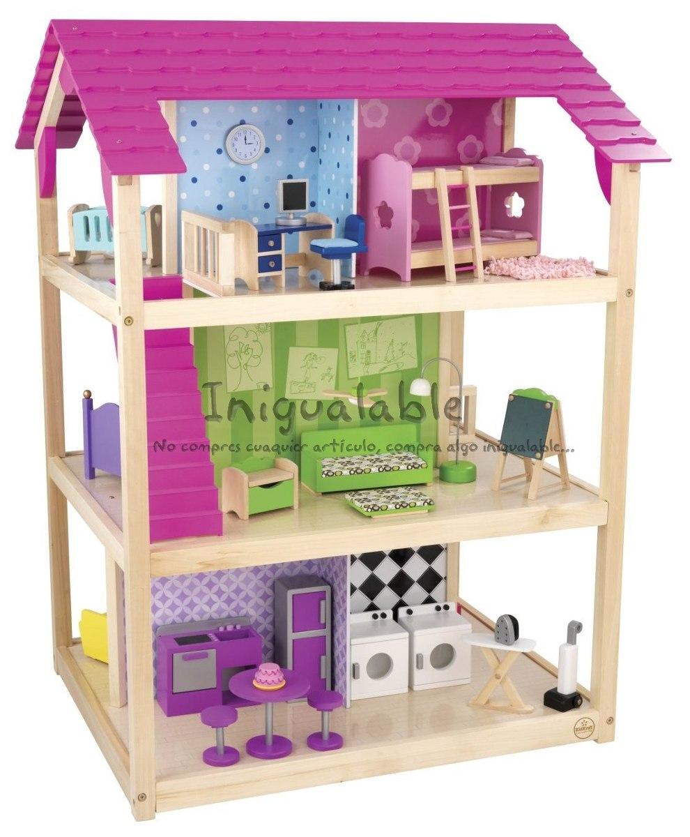 Casa De Muñecas Con Muebles Kidkraft  $ 6,20000 en MercadoLibre