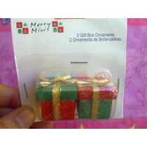 Set 2 Cajas De Regalo Para Decoracion O Casitas Miniatura