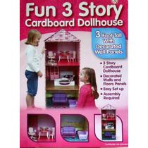 Casa Para Muñecas De 30 Cms Con 4 Niveles Doll House