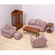 Muebles Sala P Casa Muñecas Estilo Victoriano Escala 1:12