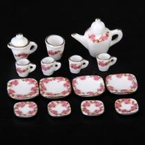 Hermoso Juego De Te Miniatura Porcelana Fina Modelo Little R