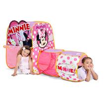 Casita Tienda De Campaña Niñas Minnie Tunel Juego Hm4