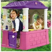 Casa Casita De Juego Infantil Rosa Y Morado Step2