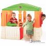Casa Para Niños Color Anaranjado Con Verde Step2