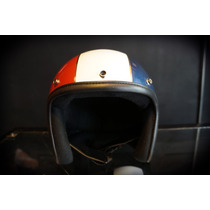 Casco Bobber Jet Marca Atop-head Modelo French Cavalry
