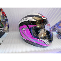 Casco Roda Abatible Color Rosa Talla M