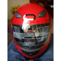 Casco Abatible Roda Talla Xl Color Rojo