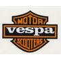 Calcomania Sticker Estampa Emblema Casco Vespa Motoneta Moto
