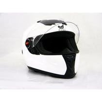 Casco Para Motociclista/visera Abatible Blanco - 130224