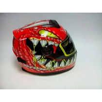 Casco Cerrado Shaft Modelo Lizzard Sh-821 Neon Orange