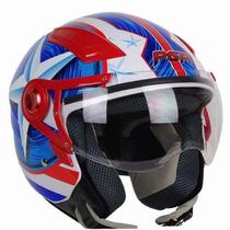 Casco De Moto Motociclista Tipo Piloto De Jet Envio Gratis.