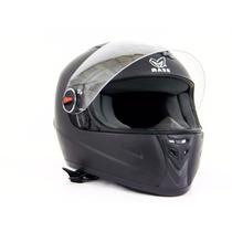 Casco Para Motociclista/visera Abatible Negro Mate - 130222