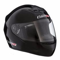 Casco Motociclista Integral Ls2 Ff Mono Black