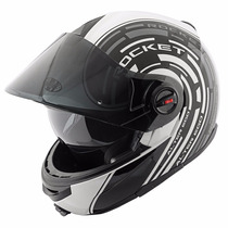 Casco Joe Rocket Alter Ego Rkt1700 Blanco Abatible Con Lente