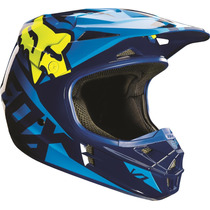 Casco Fox V1 Race Azul Amarillo 2016 Motocross Atv Talla L