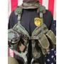 Kit De Combate Usa Casco Kevlar, Mascara Antigas,