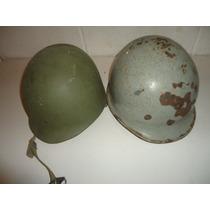 Casco Militar Antiguo M1, De Acero Y Baquelita
