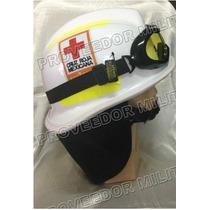 Casco Tipo Bullard Con Logos De Cruz Roja Mexicana