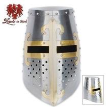 Casco Medieval De Caballero Templario Cruzadas