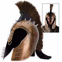 Punk Trojan Helmet With Ponytail (entrega 3 - 4 Semanas)