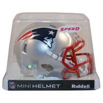 Nfl New England Patriots Mini Casco Modelo Speed By Riddell