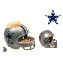 Casco Nfl Dallas Cowboys Combo Botanero Y Alcancía